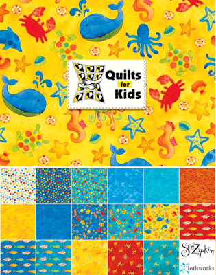 Sue Zipkin Sea Shanty Fabric Collection by Clothworks, donated proceeds to Quilts for Kids