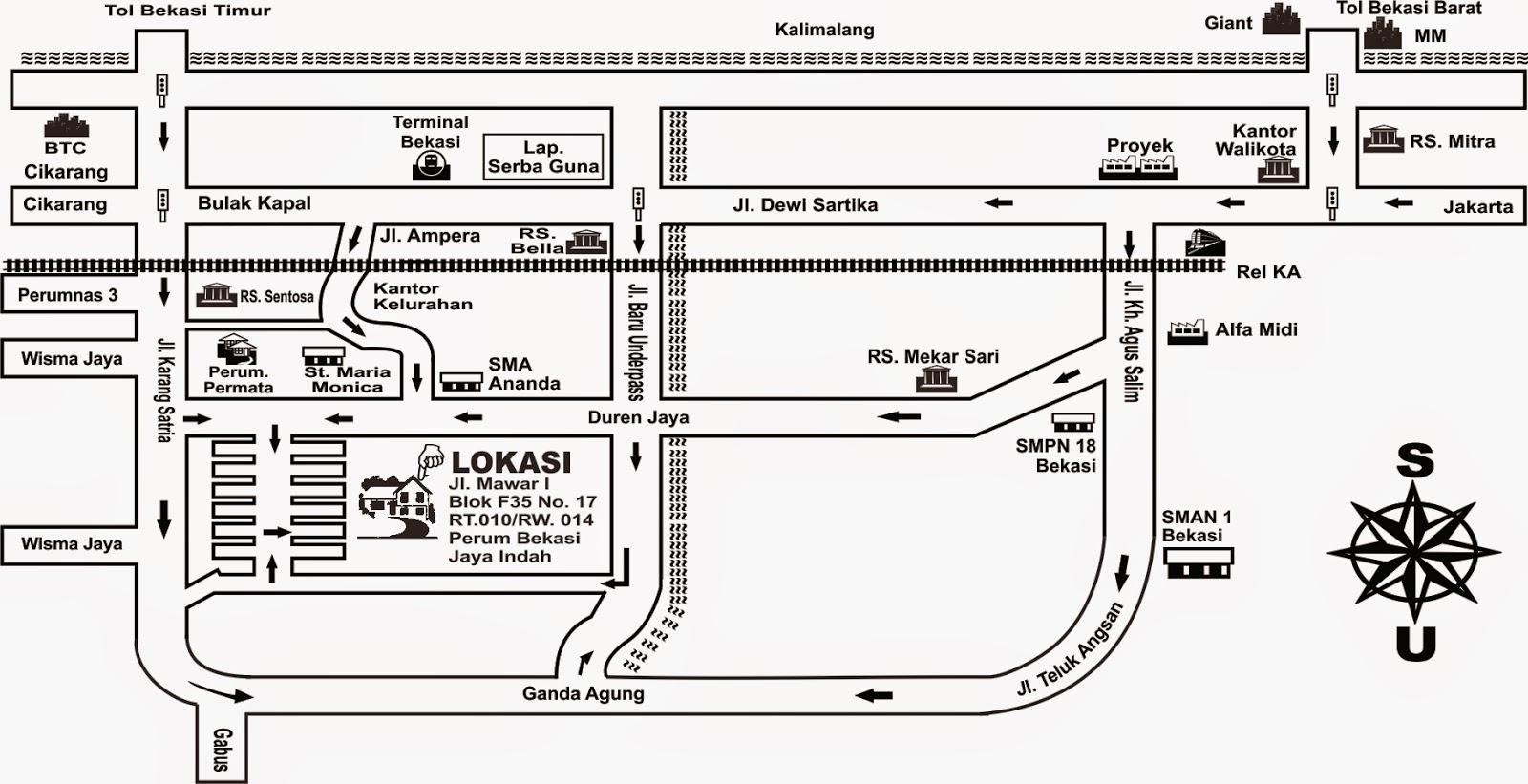 Denah Bekasi Jaya Indah