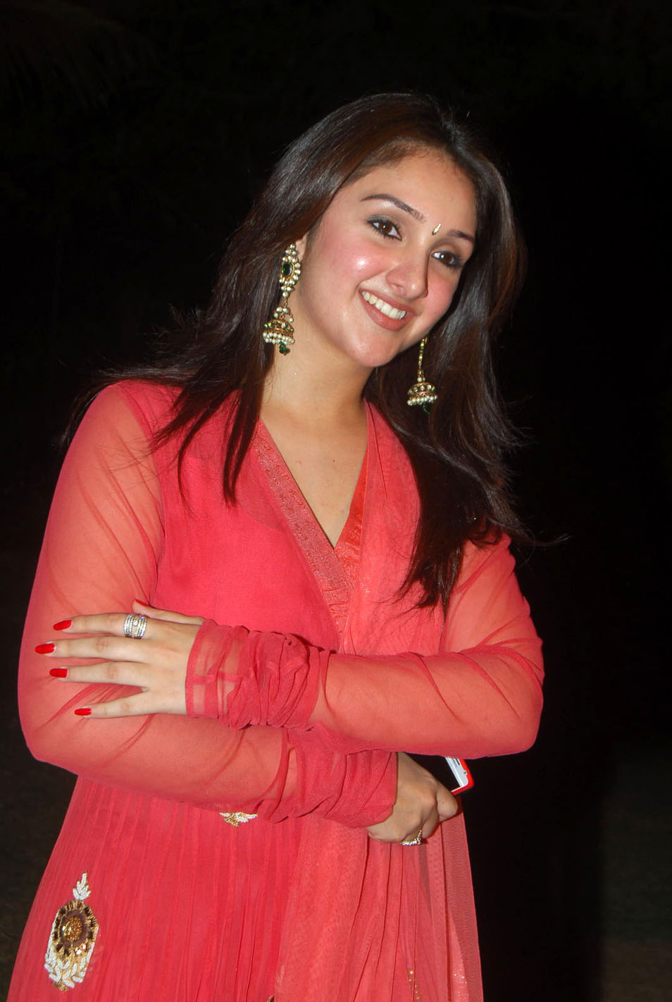 , Sridevi Vijayakumar Stills In Red Dress