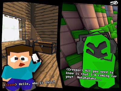 creeper gonna get steve minecraft comic