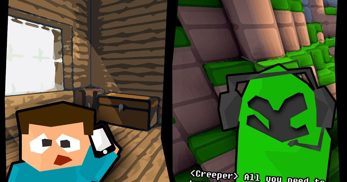 Minecraft blog bored steve minecraft comic creeper phone call - Minecraft creeper and steve ...