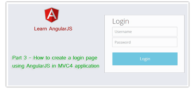 How to create a login page using AngularJS in MVC4 application