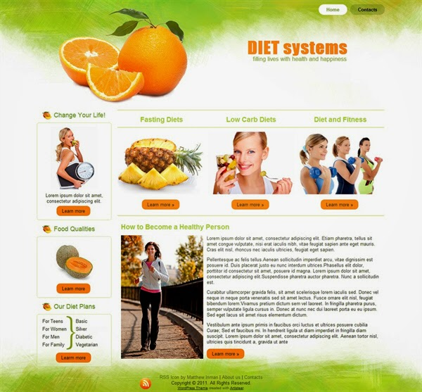 Diet Systems - Free Wordpress Theme