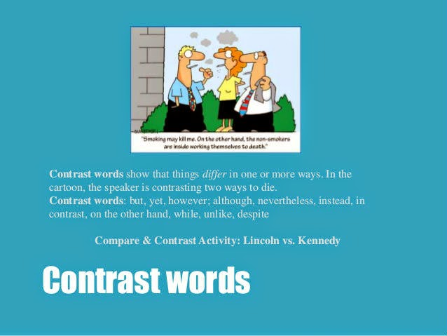 ielts speaking using contrast words