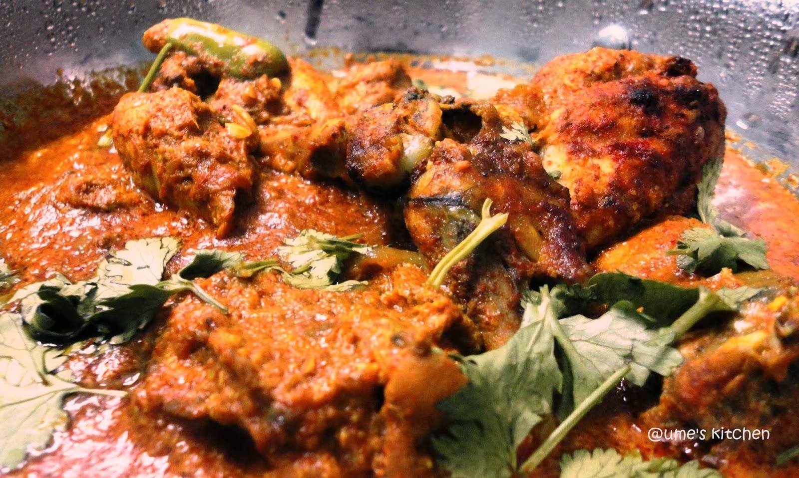 Ume's Kitchen: Grilled Kashmiri Chicken Curry