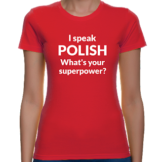 Koszulka I speak polish, what's your superpower?