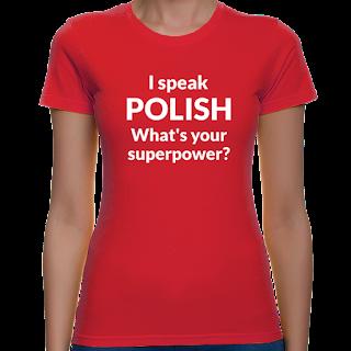 Koszulka I speak polish, what's your superpower?