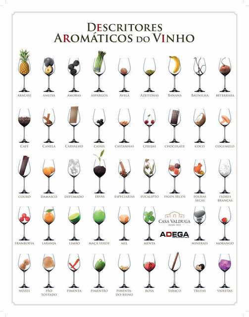 Descritores aromáticos do vinho