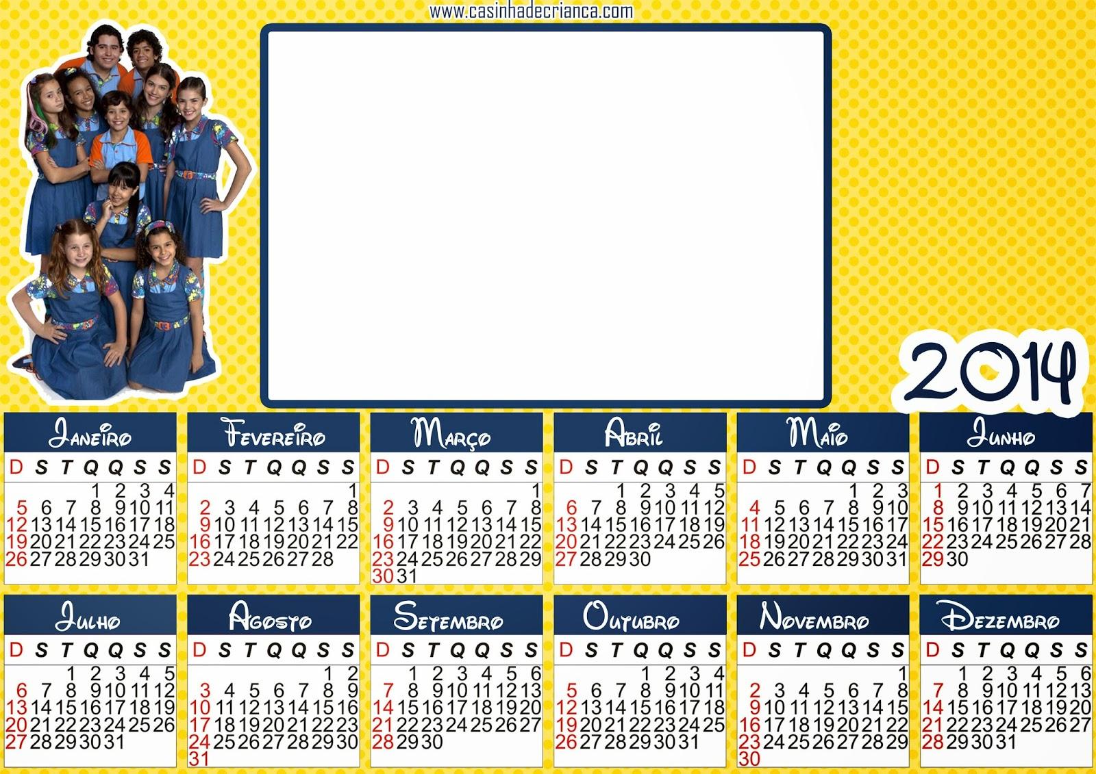 calendário chiquititas 2014