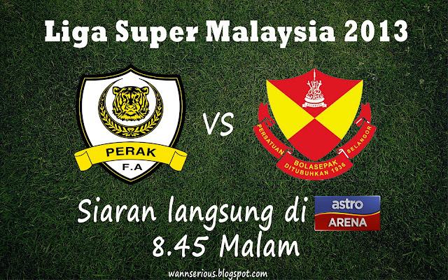 Live Streaming Perak Vs Selangor, 22 Januari 2013, Siaran Langsung Liga Super Malaysia 2013, Selangor Vs Perak, Stadium TLDM