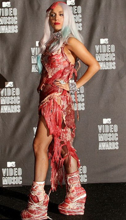 lady gaga meat dresses. Lady Gaga#39;s meat dress may not