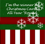 I won the March 2013 challenge with my Funky hand xmas card