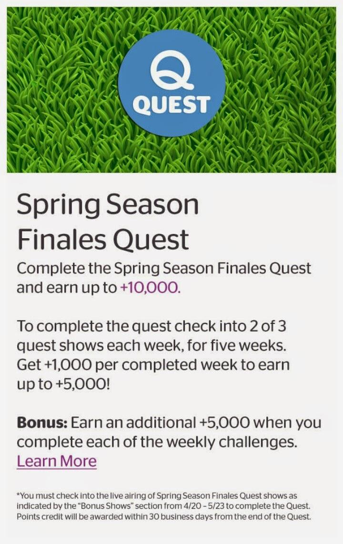 Spring Season Finales, Viggle Quest, Viggle Mom, Spring Season Viggle Quest