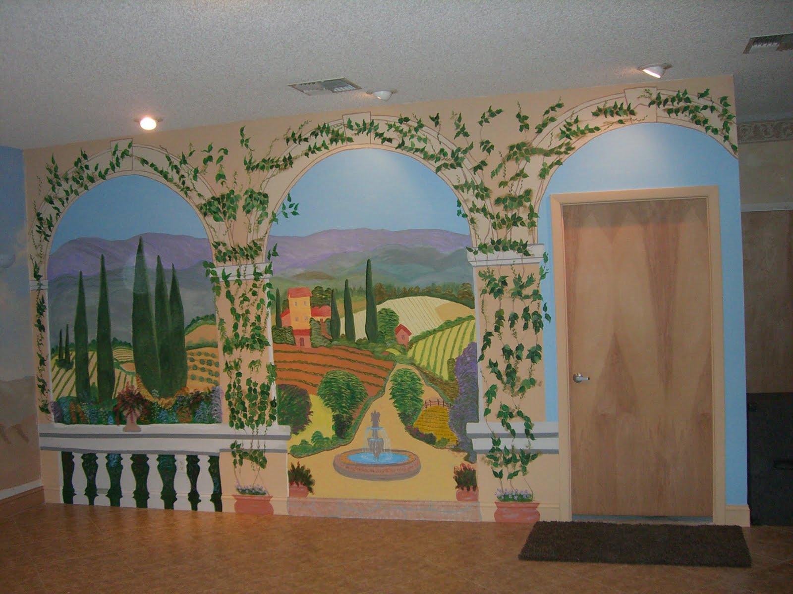 Farmers heart in an urban setting wall mural of 17 39 x 12 for Church wall mural