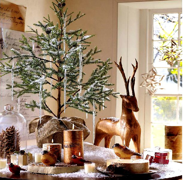 Bad blog about design holiday decorating the dining table for Deco interieur noel