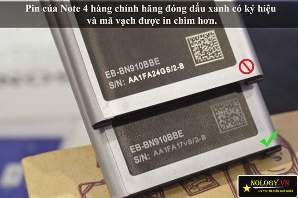 Cách phân biệt Samsung galaxy Note 4 chính hãng và hàng dựng
