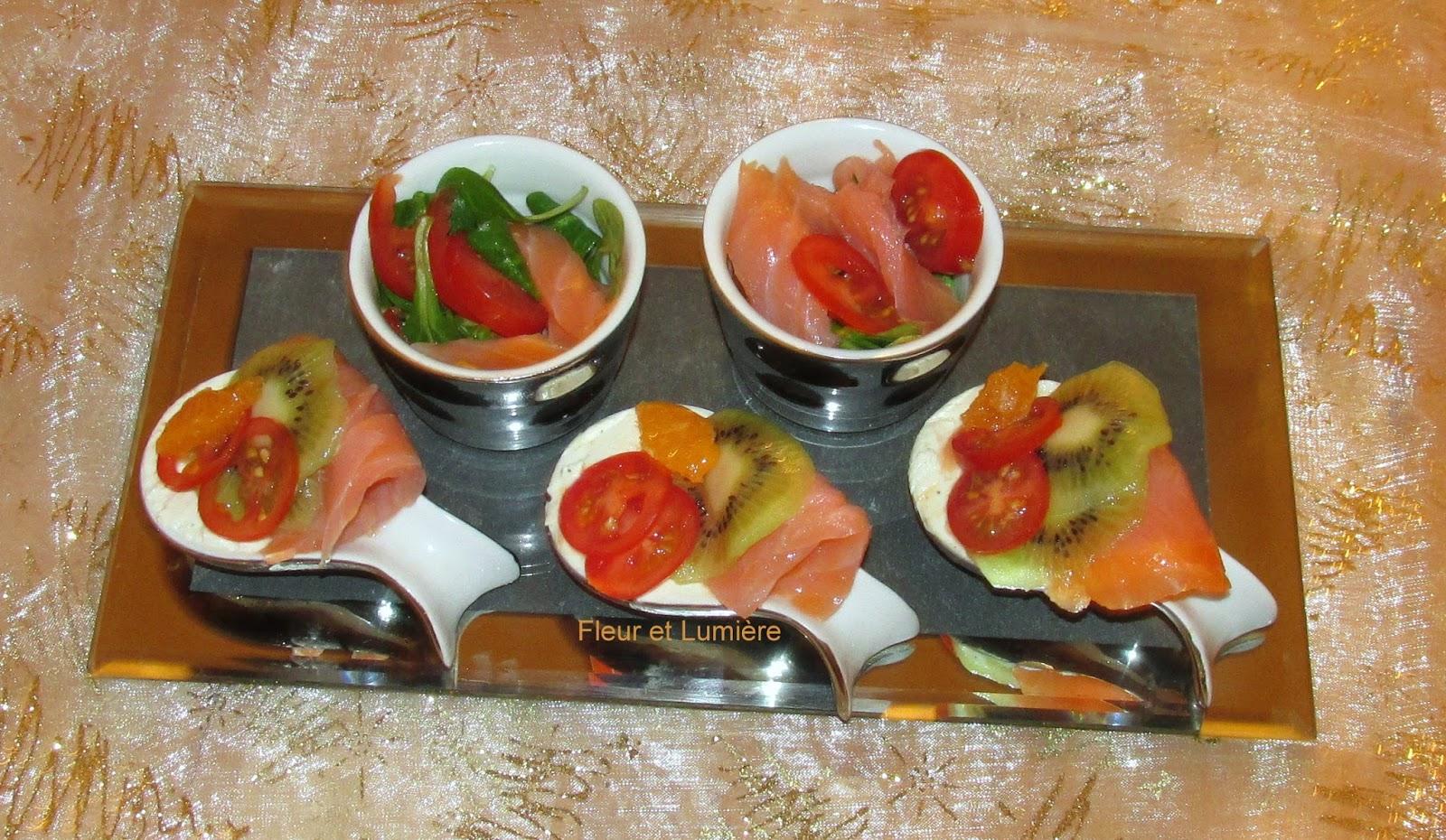 Fleur et lumi re entr e du r veillon saumon fum kiwi for Lumiere entree