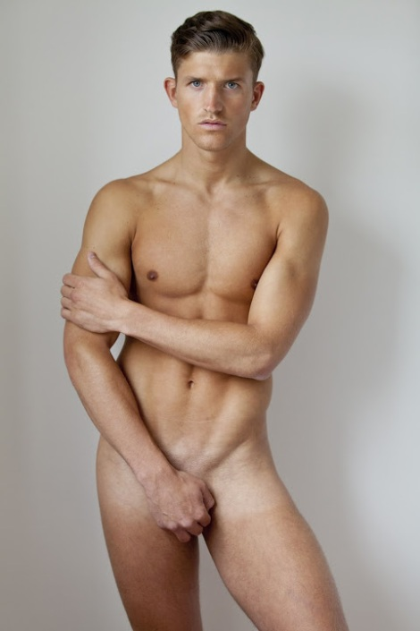 Jamie Clarke naked portrait by Nicholas Andrews