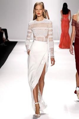 j mendel, spring summer 14, new collection, dresses, mesh, side splits, new york fashion week, spring summer 2014, ss 14, nyfw