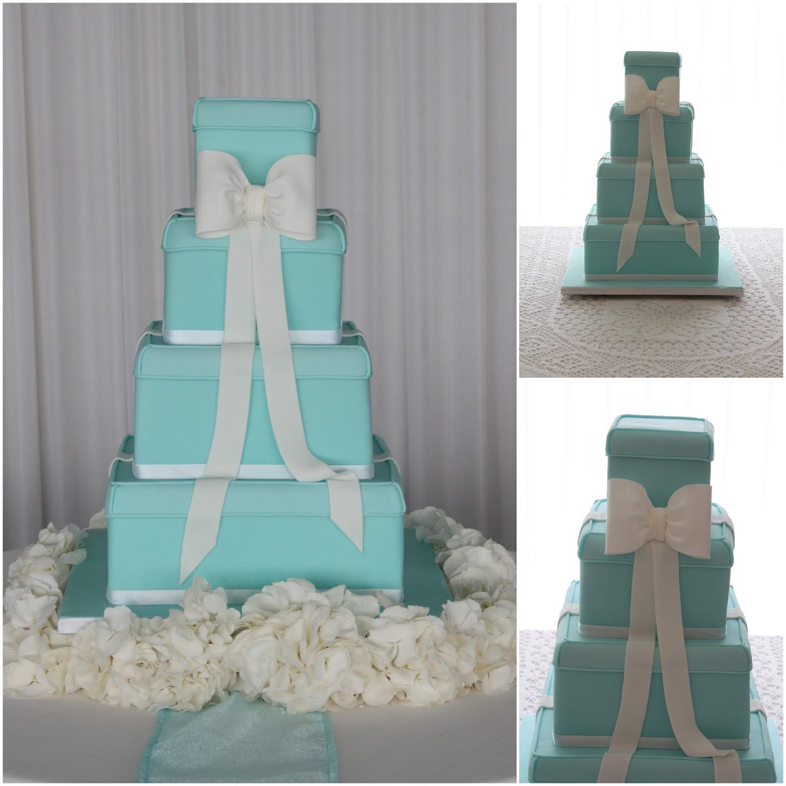 Tiers & Tiaras Iconic Tiffany Boxes Wedding Cake