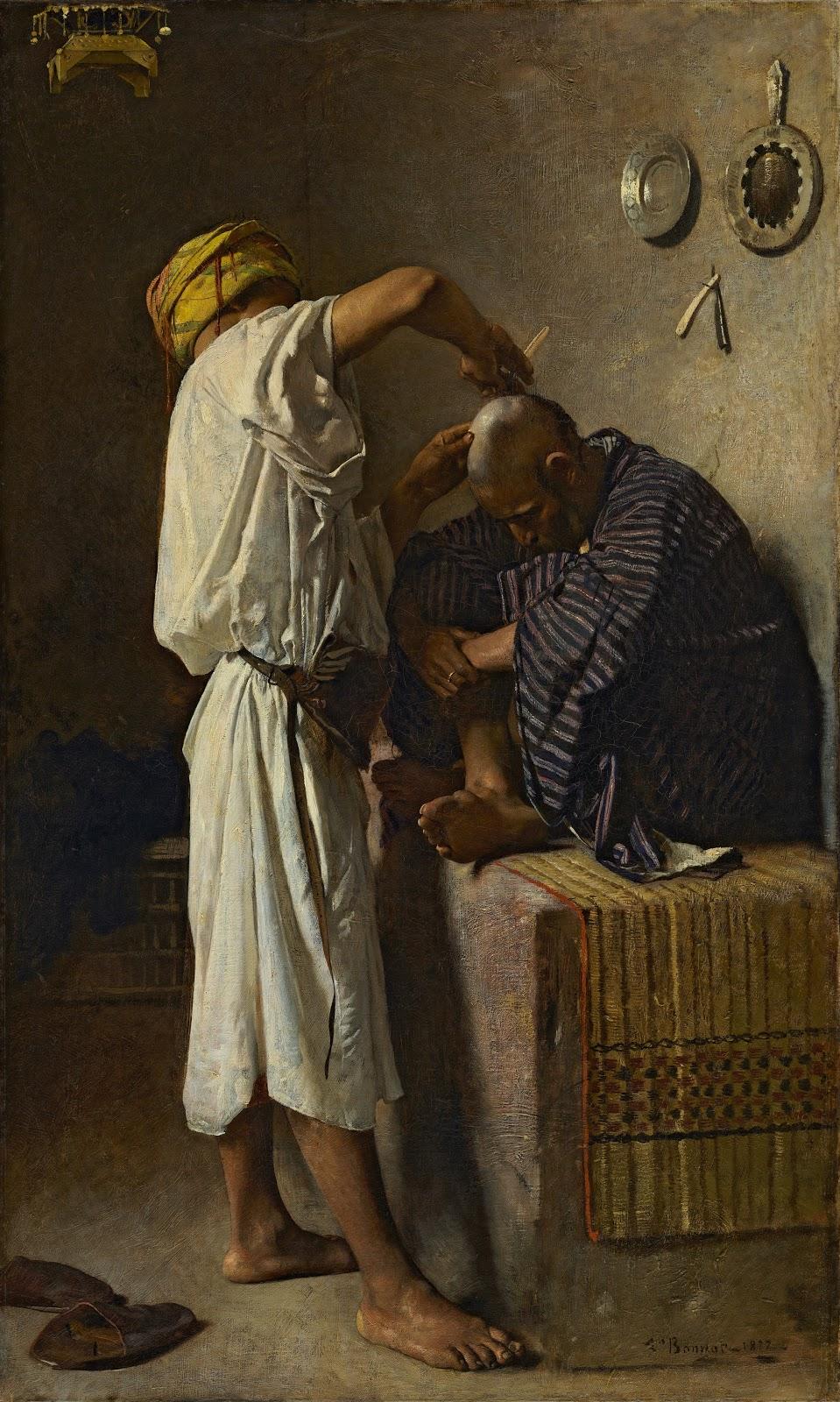 Leon  onnat Un salon de coiffure oriental
