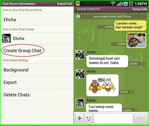 how to create groupchat on kakao