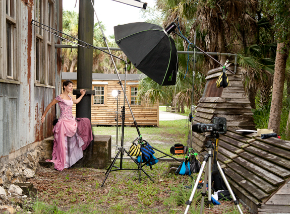 Behind the Scenes Fashion Model Photography