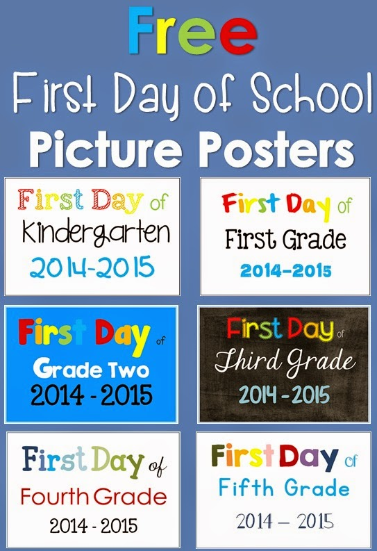 First Day of School Photo Posters Freebie