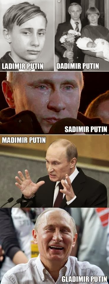 The Moods Of Vladamir Putin