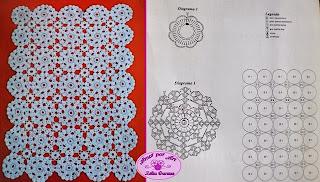 Toalhinha em Crochê com gráfico