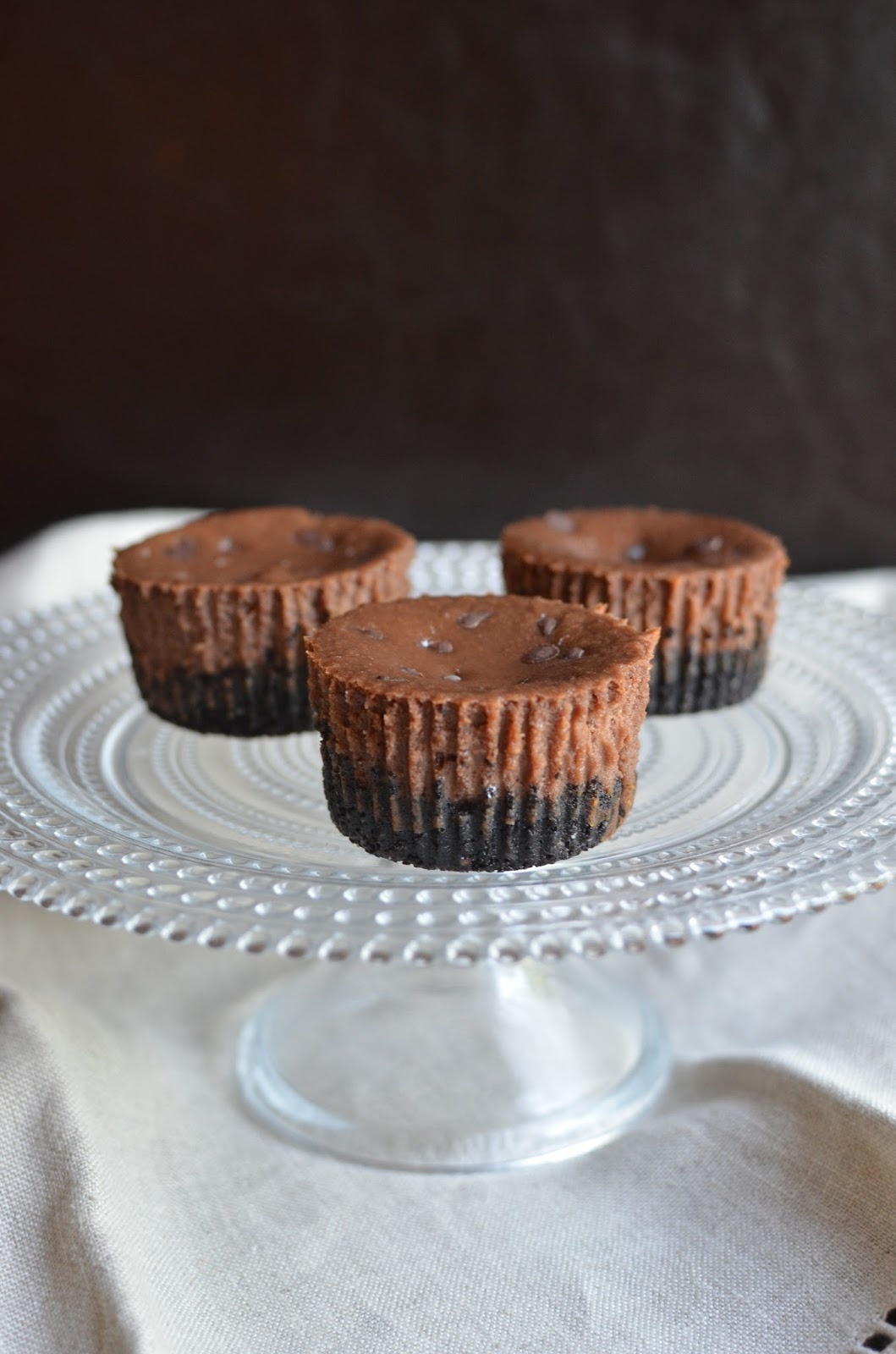 Mini Chocolate-Hazelnut Cheesecakes