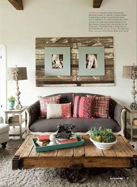 home decor with crates and pallets - living room decor