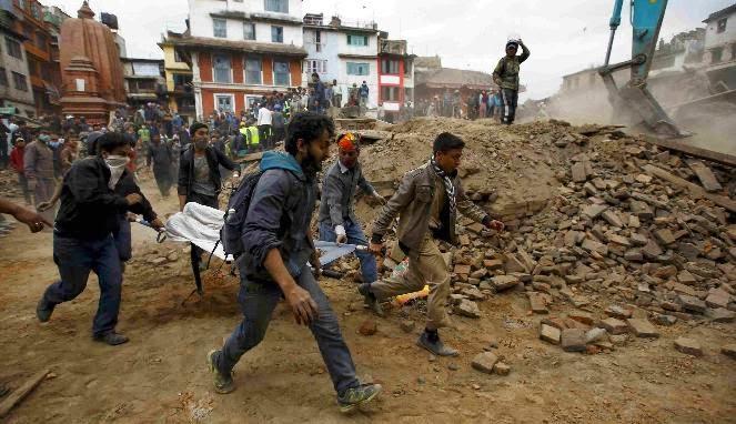 gempa bumi di nepal