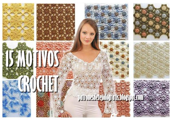 15 motivos crochet para técnica de crochet continuo