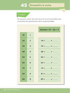 Apoyo Primaria Desafíos Matemáticos 1er Grado Bloque 4 Lección 45 Encuentra la suma