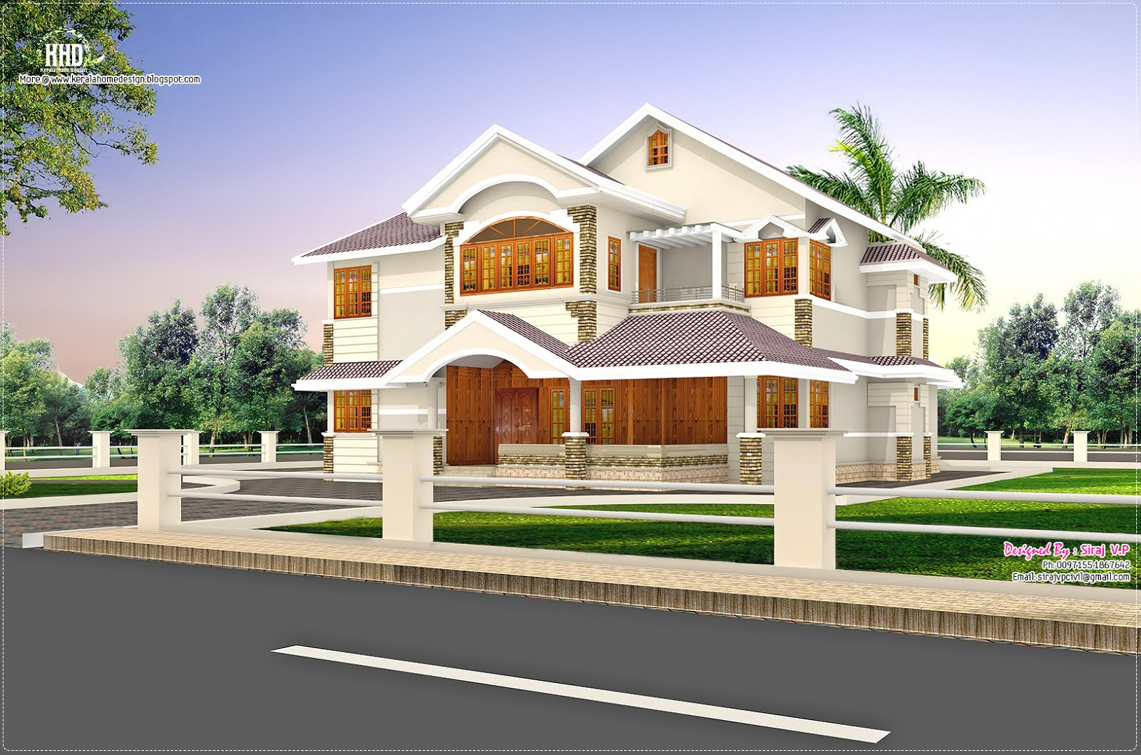 January 2013 kerala home design and floor plans Three d house plans