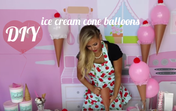 House decorations for halloween - Diy Ice Cream Cone Balloons