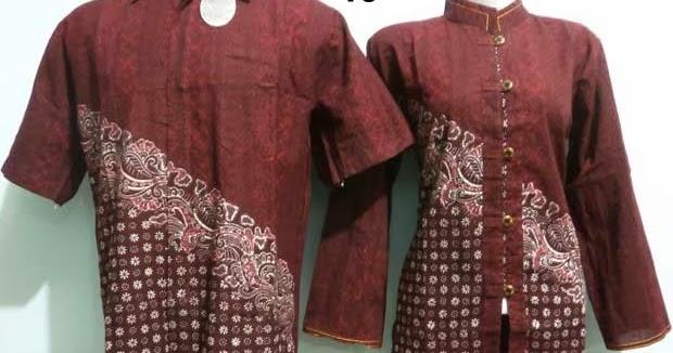 Baju Batik Sarimbit Couple Kode 16