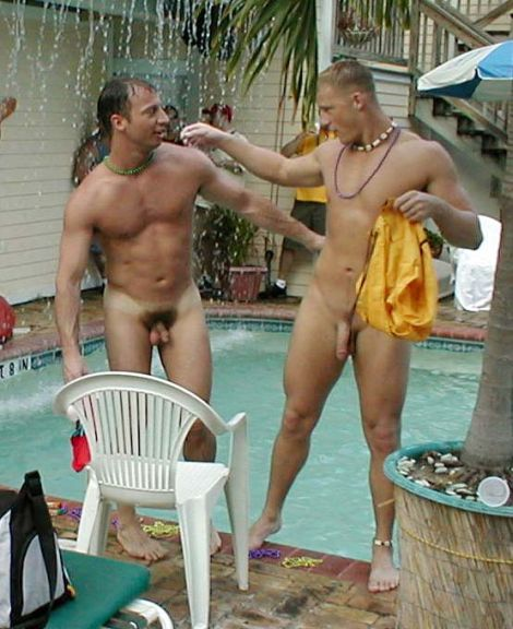 public in Gay man naked