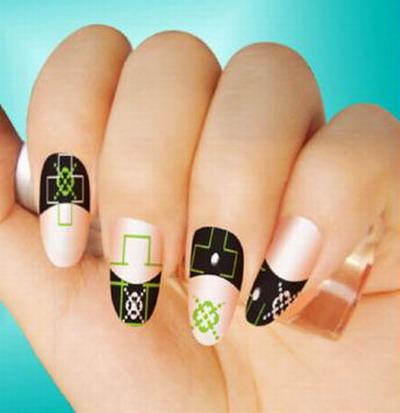 Women nail art