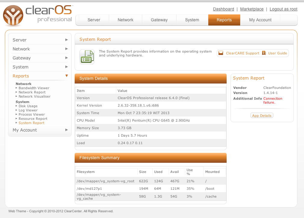 Network   Muhamad Zukri: ClearOS 6 Small Bussiness Server