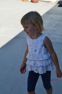 Emma on the chalk road