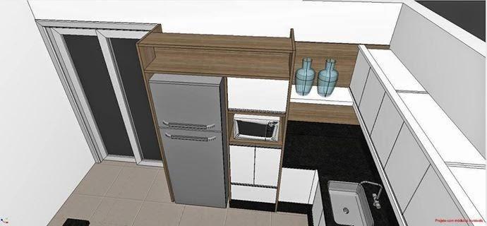 Nosso Pequeno Sonho Sonhando com a Cozinha # Armario De Cozinha Em Cima Da Geladeira