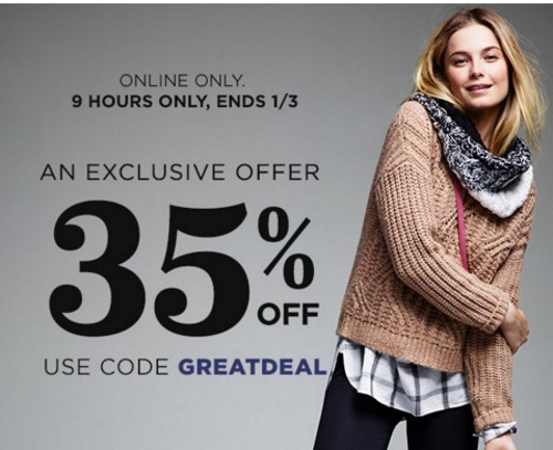 Old Navy Flash Sale 35% Off Promo Code