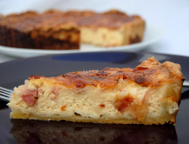 Quiche Lorraine. Pasta Quebrada con nata, huevos y bacon