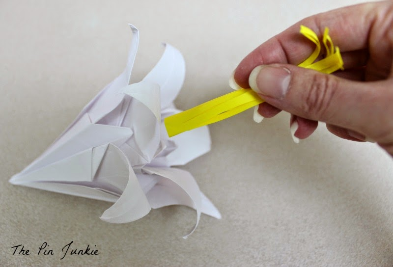 Paper Origami Lilies stamen