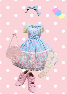 angelic pretty lolita fashion outfit help by mintyfrills