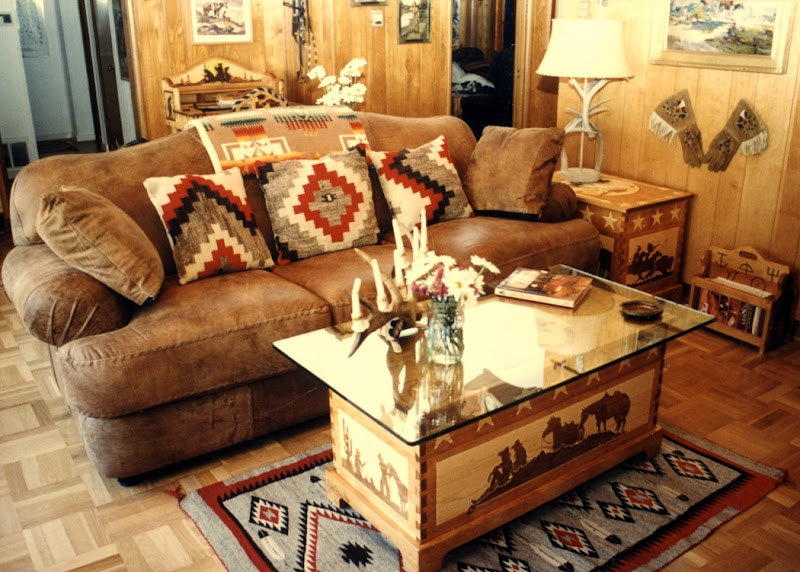 Cowboy Western Living Room Ideas