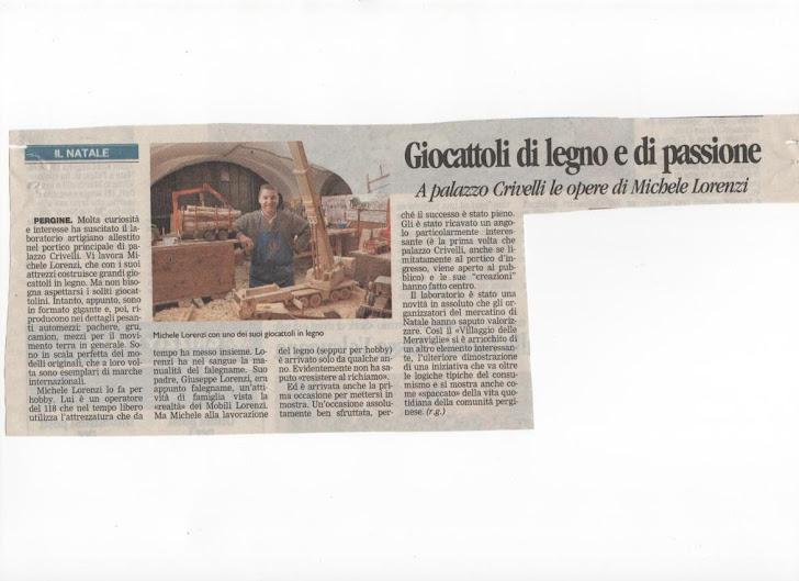 Articolo dell' Adige dicembre 2010