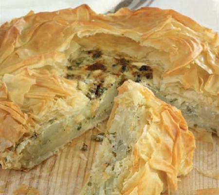 Potato and Blue Cheese Filo Pie Recipes